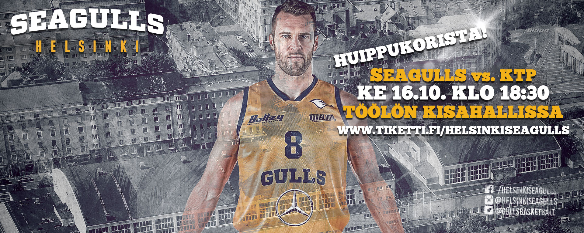 Link to event Helsinki Seagulls vs. KTP-Basket