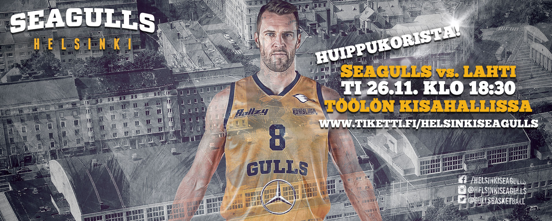 Link to event Helsinki Seagulls vs. Lahti Basketball