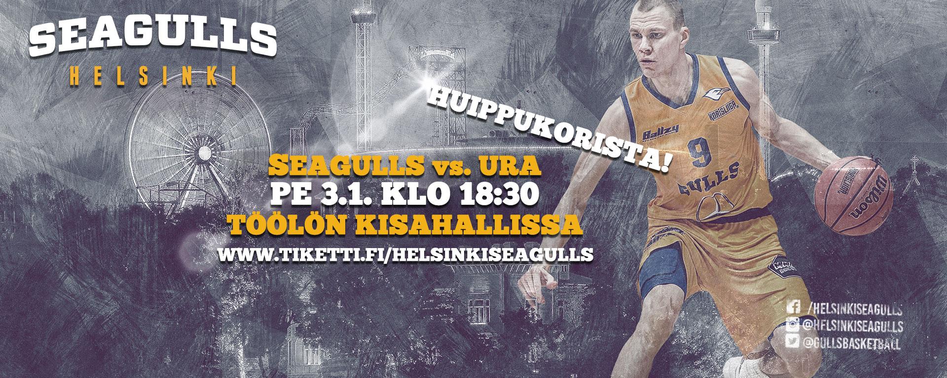 Link to event Helsinki Seagulls vs. Ura Basket
