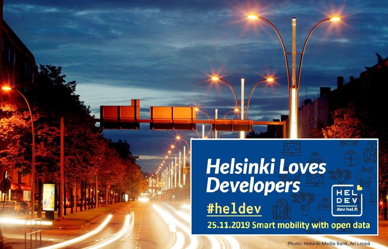 Linkki tapahtumaan Helsinki Loves Developers: Älykästä liikkumista avoimella datalla