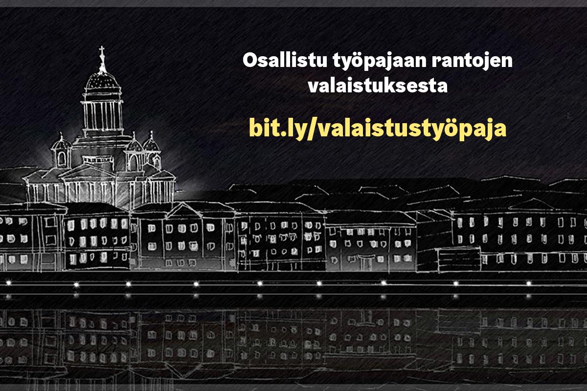 Linkki tapahtumaan Tule mukaan kehittämään Helsingin rantojen valaistusta!