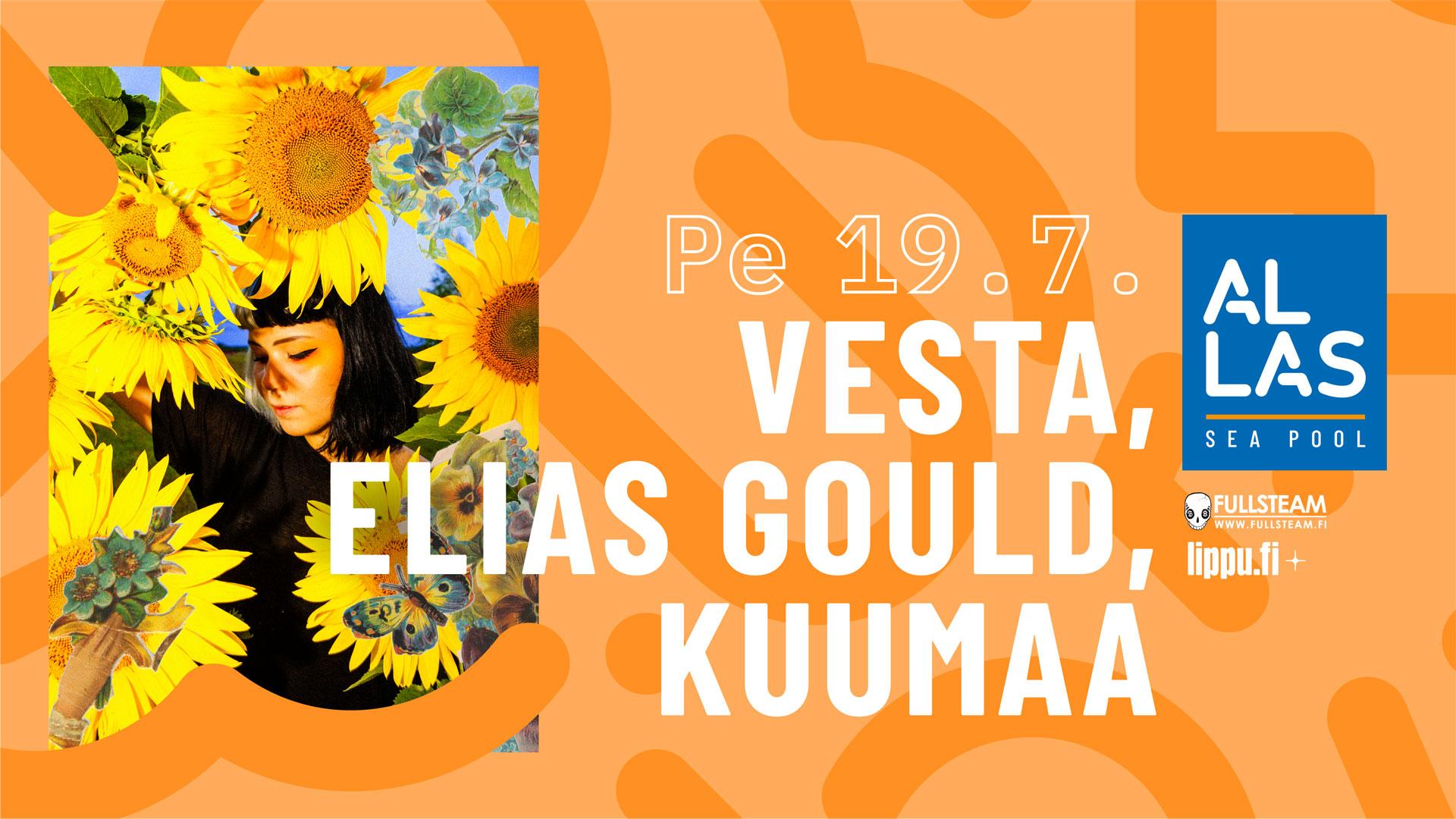 Linkki tapahtumaan Vesta + Elias Gould + Kuumaa