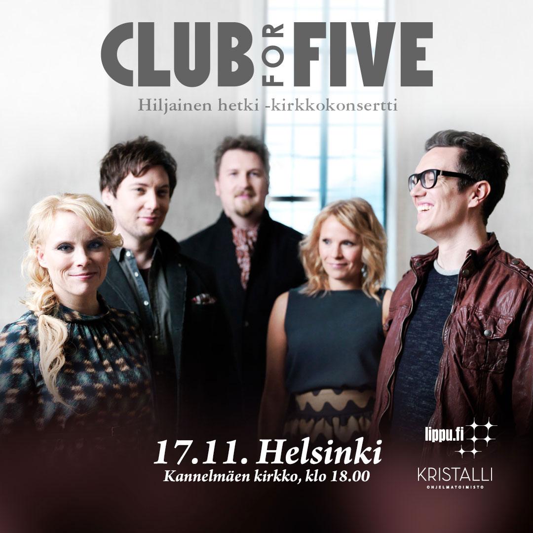 Linkki tapahtumaan Club For Five: Hiljainen hetki