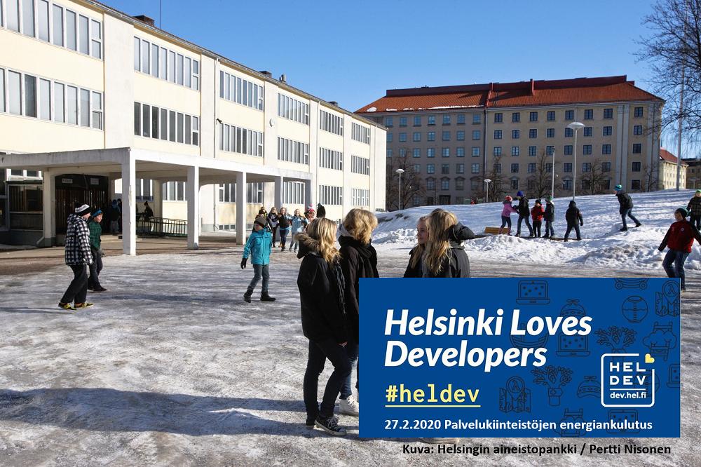 Linkki tapahtumaan Helsinki Loves Developers: Palvelukiinteistöjen energiankulutusdataa avoimena datana