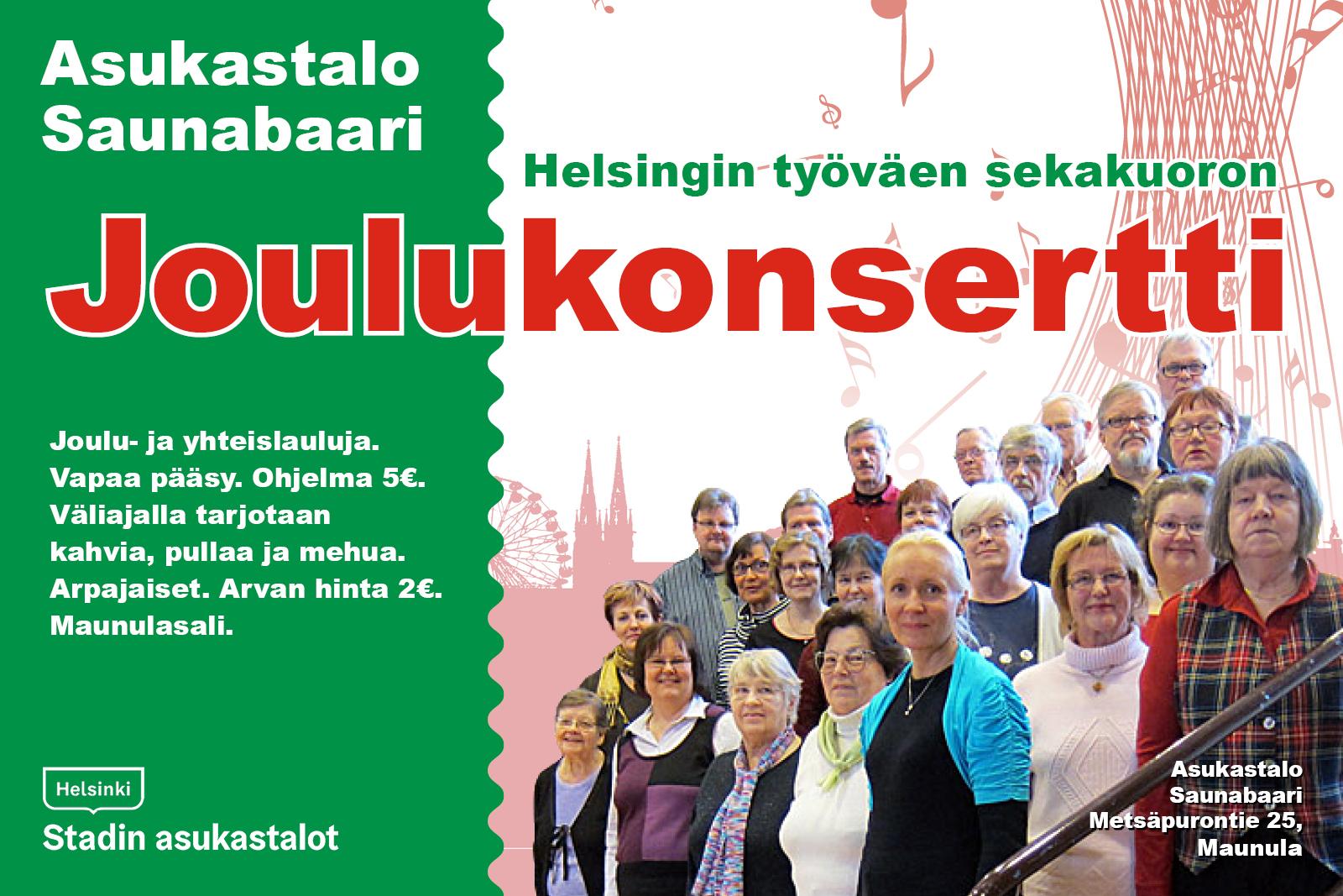 Linkki tapahtumaan Helsingin työväen sekakuoron joulukonsertti