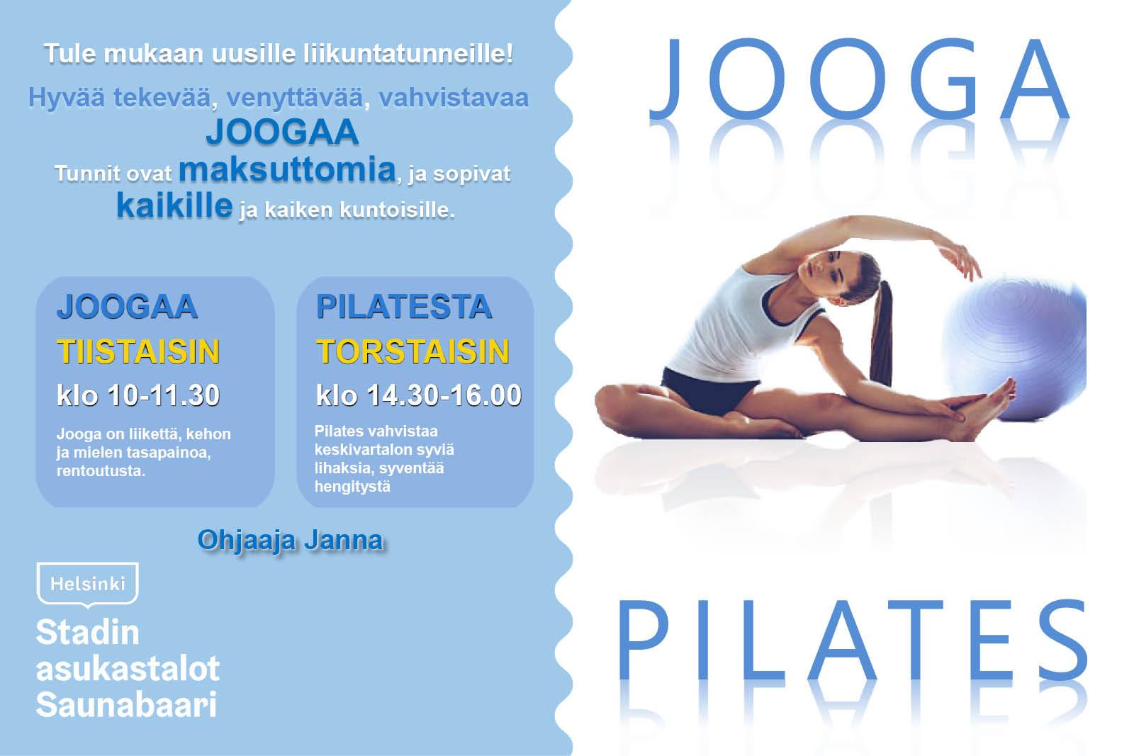 Link to event Jooga ja Pilates