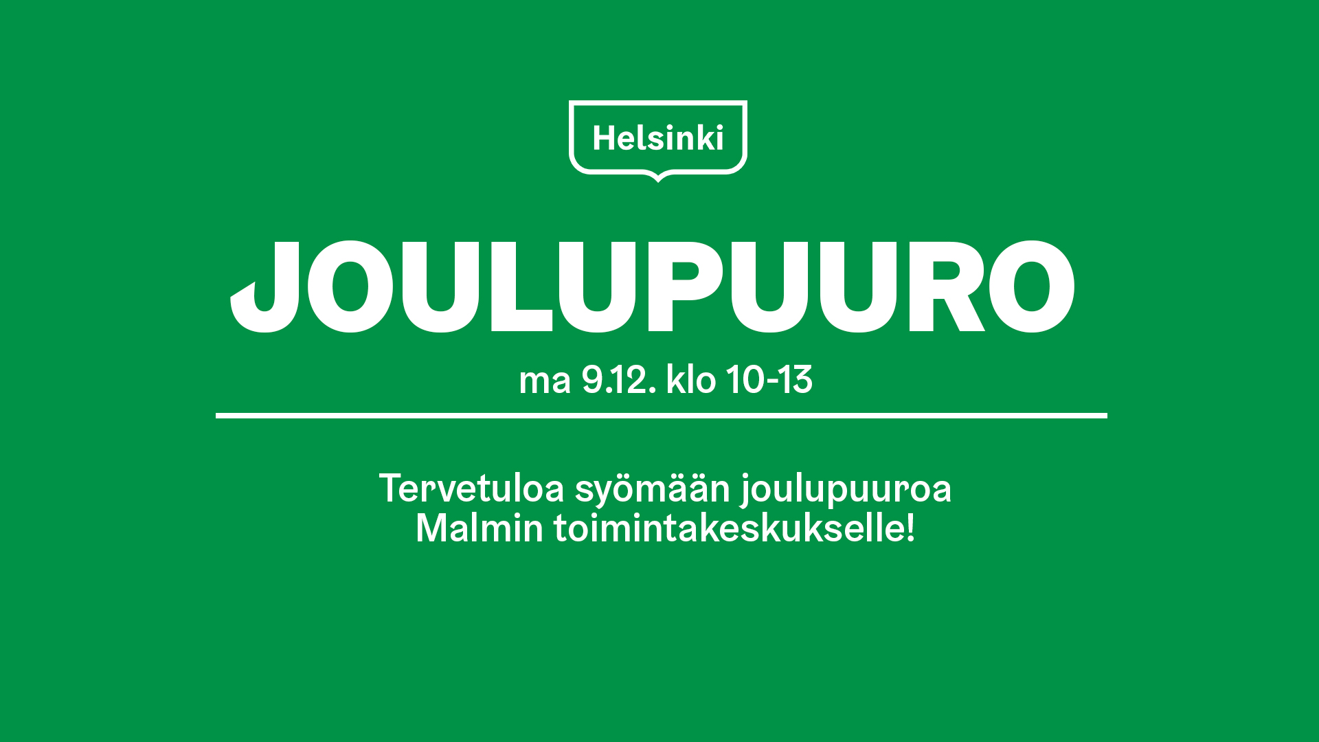 Link to event Joulupuuro