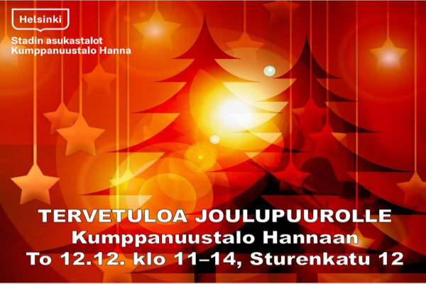 Link to event Tervetuloa joulupuurolle Hannaan