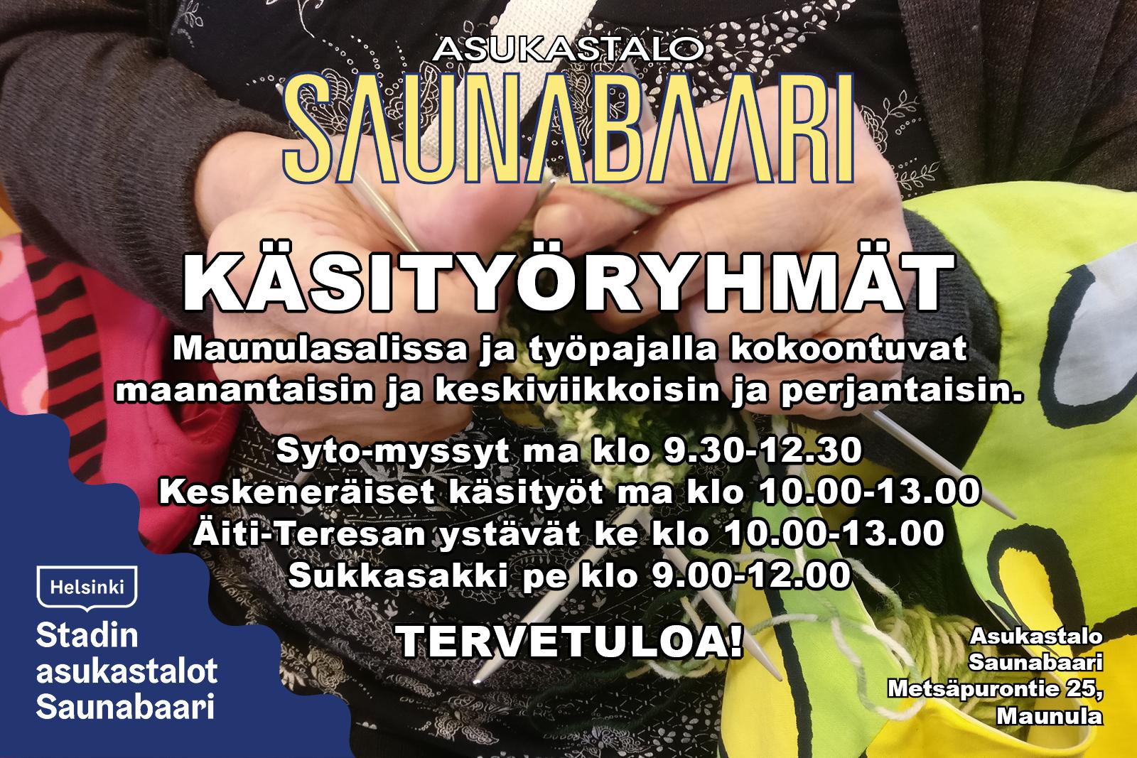 Link to event Asukastalo Saunabaarin käsityöryhmät