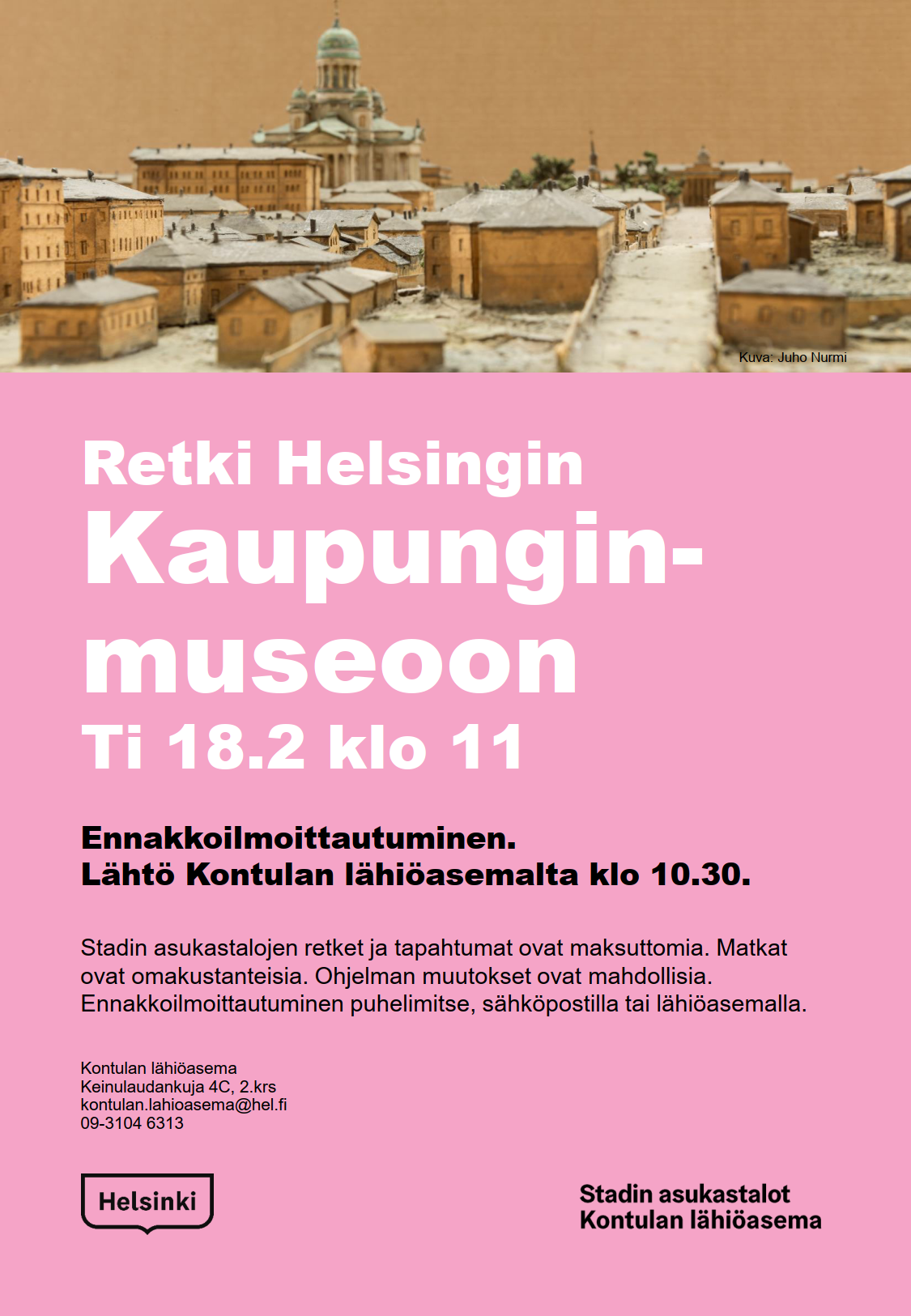 Linkki tapahtumaan Retki Helsingin kaupunginmuseoon 18.2.2020