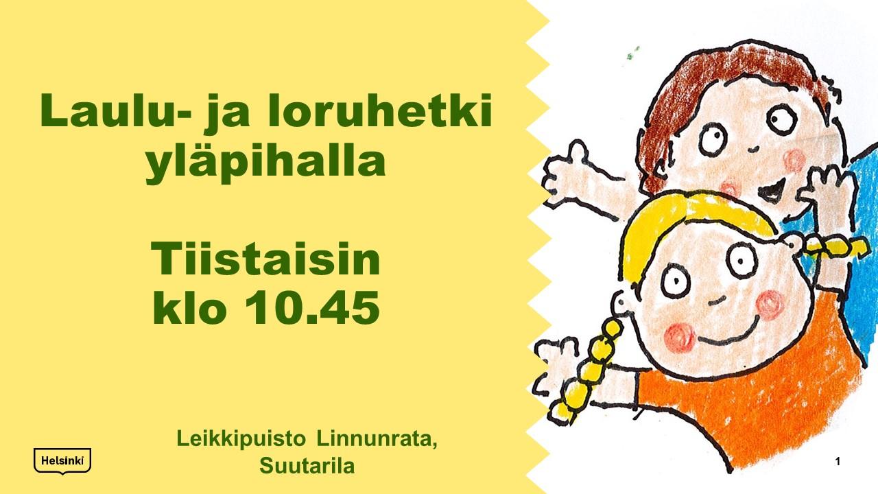 Link to event Laulu- ja loruhetki leikkipuiston pihalla