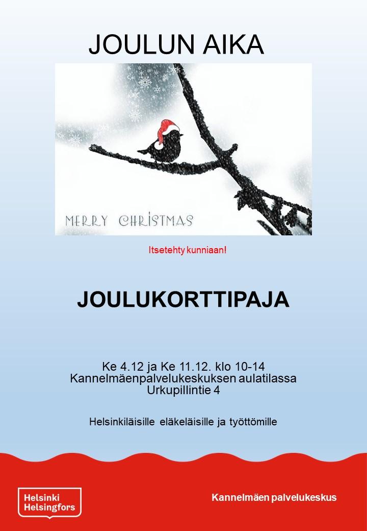 Linkki tapahtumaan Avoin joulukorttipaja