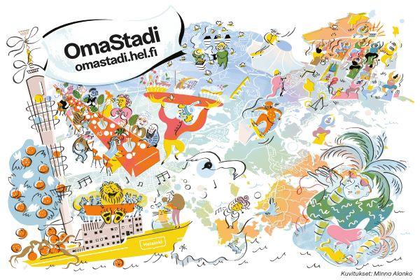 Länken till evenemang OmaStadi -äänestystapahtumat lokakuun keskiviikkoina