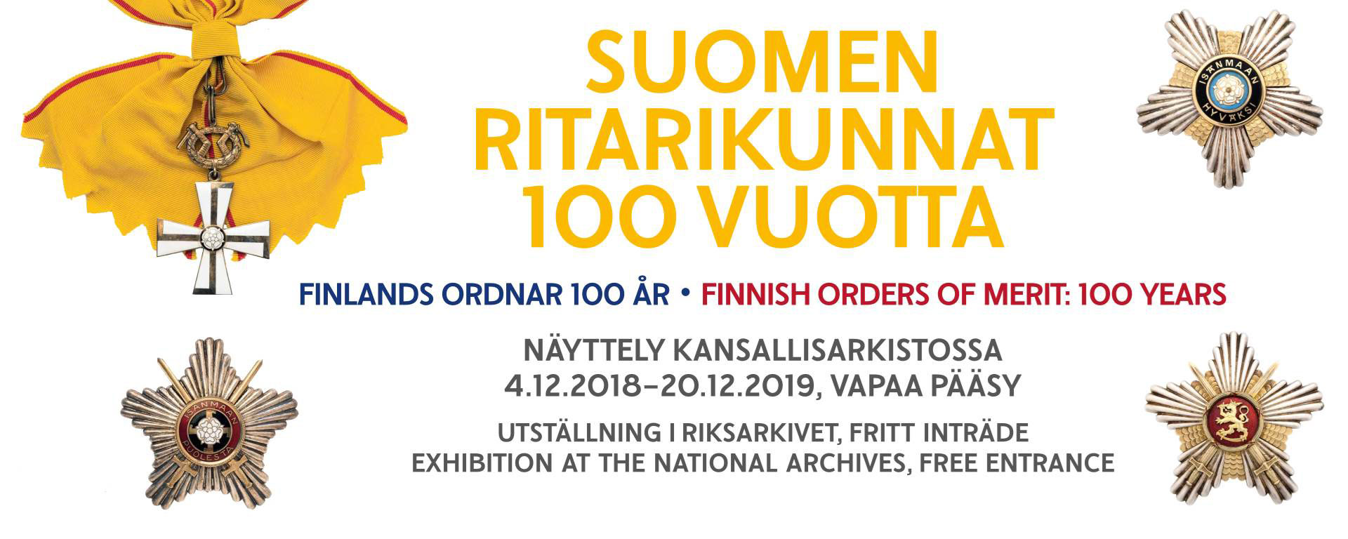 Link to event Finnish Orders Of Merit: 100 Years
