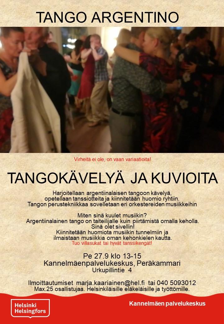 Linkki tapahtumaan Tango Argentino! Tangokävelyä ja kuvioita