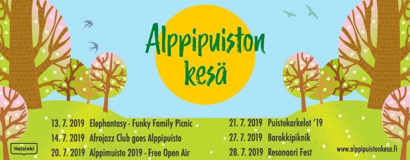 Linkki tapahtumaan Alppipuiston kesä 2019
