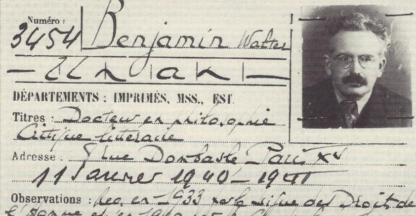 Linkki tapahtumaan Walter Benjamin ja eurooppalaisen kulttuurin moderni kokemus