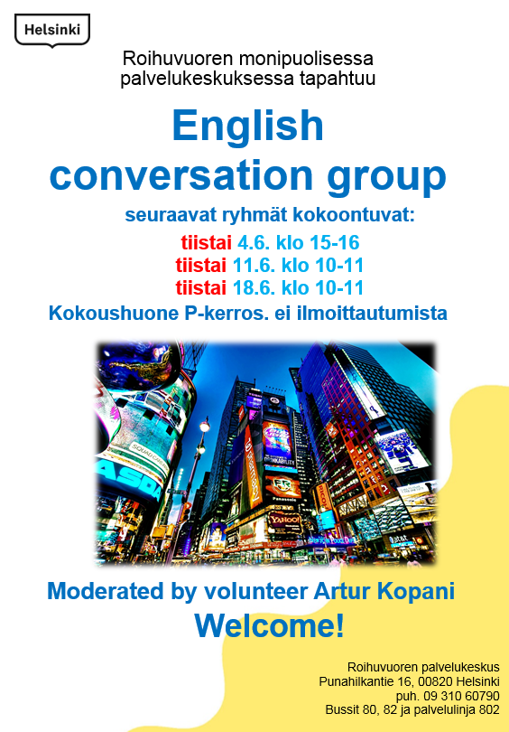 Link to event English conversation group