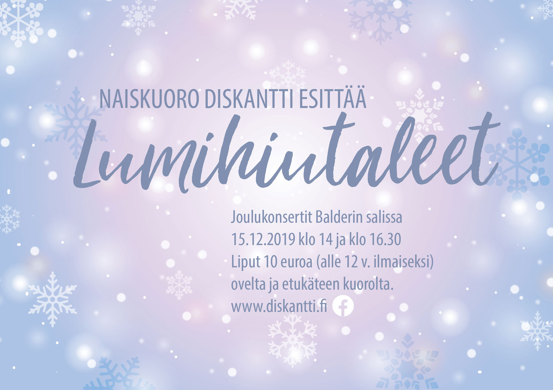Link to event Female Choir Diskantti's Christmas Concert
