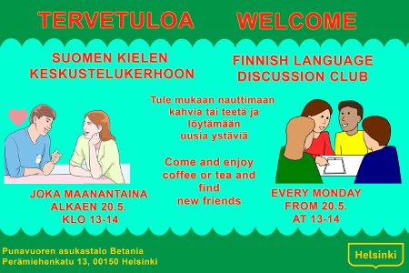 Link to event Welcome to Finnish language discussion club!