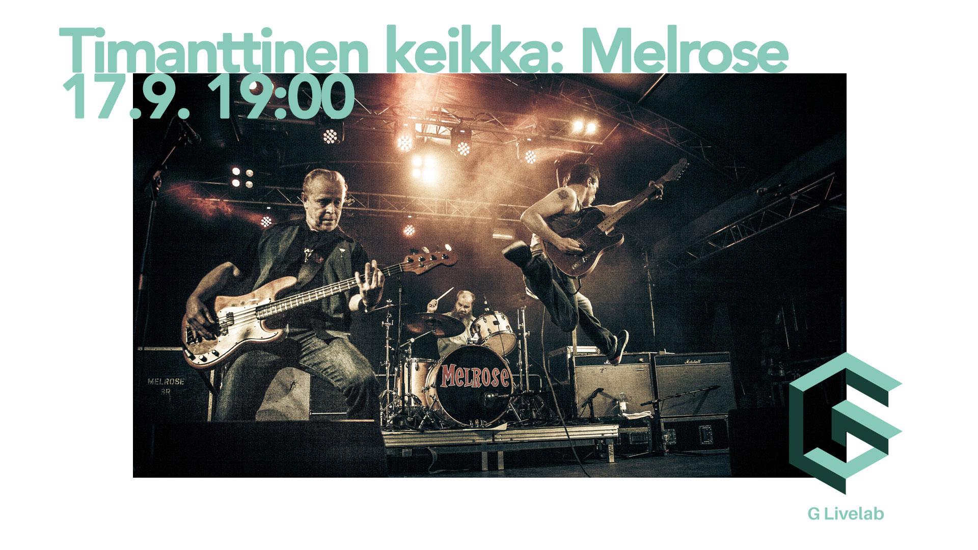Link to event Timanttinen keikka: Melrose