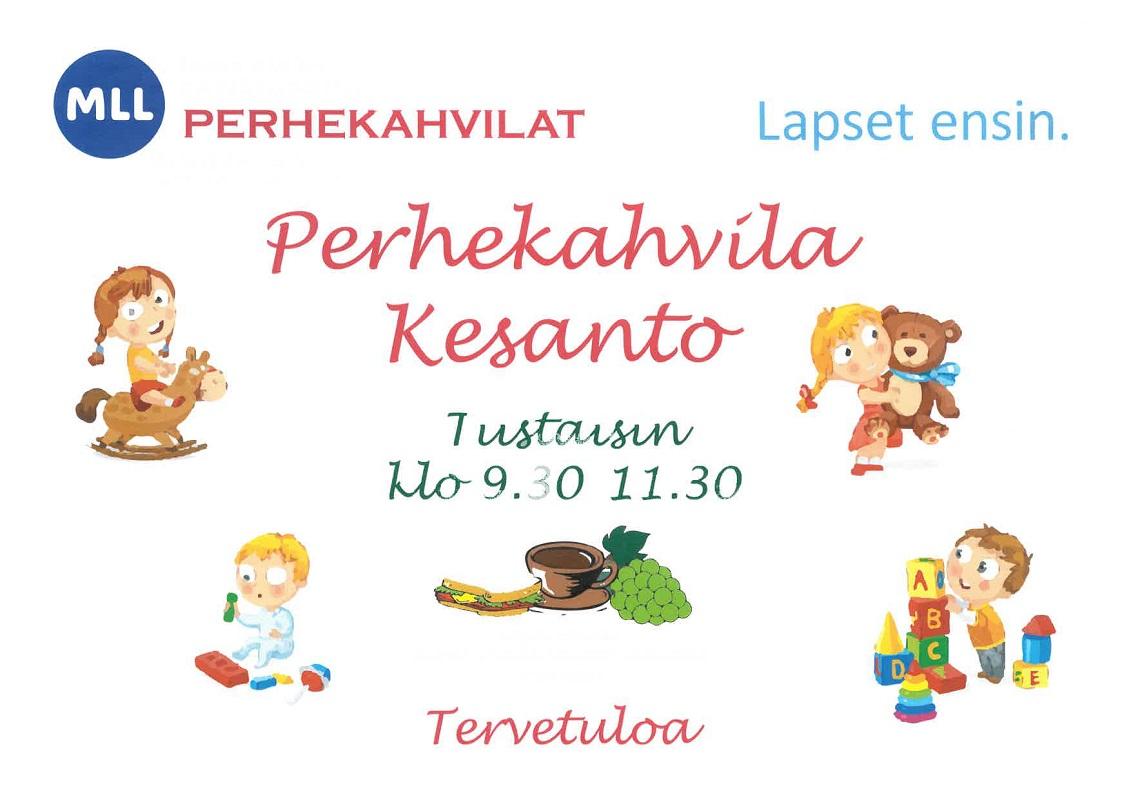 Länken till evenemang MLL Tapaninkylän ja Kesannon yhteinen perhekahvila