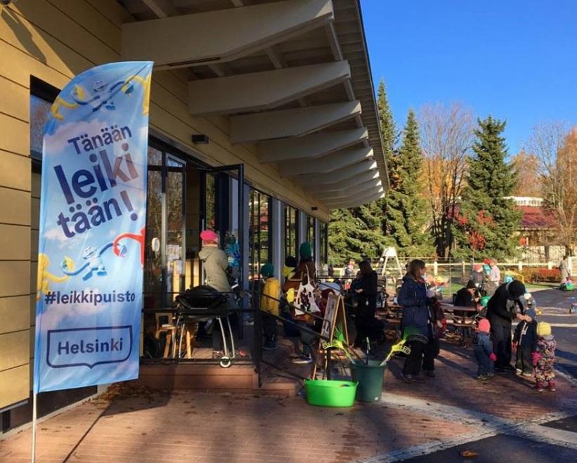 Linkki tapahtumaan Pienten puuhat Leikkipuisto Mäkitorpassa