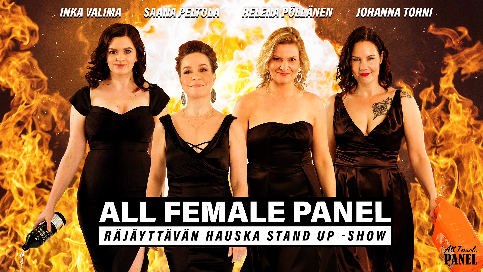 Linkki tapahtumaan Stand up live stream: All Female Panel (stream)