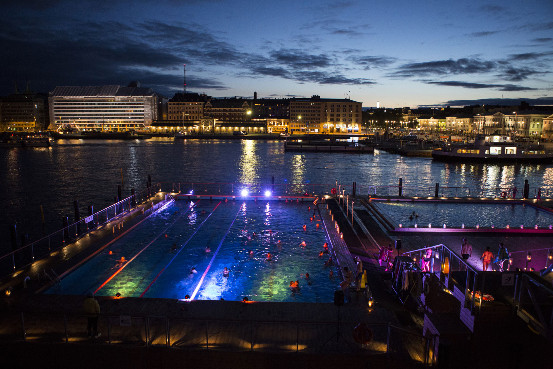 Link to event Allas Candle Light Swim