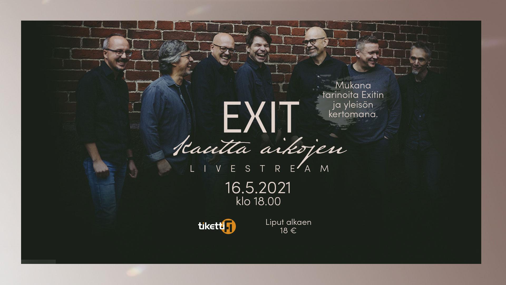 Linkki tapahtumaan Exit – Kautta aikojen livestream