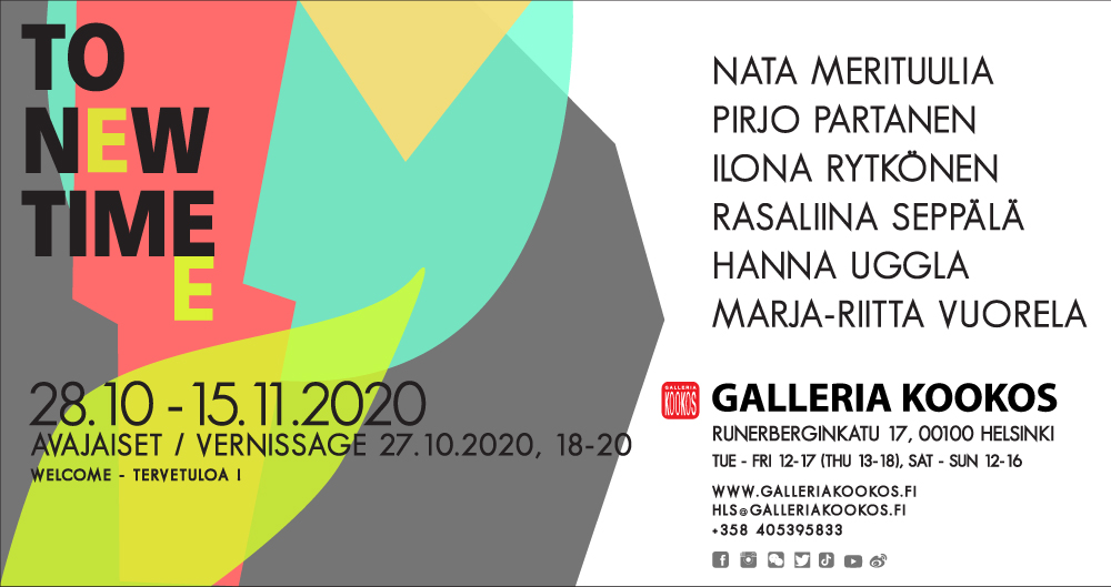 Link to event Galleria Kookos: TO NEW TIME