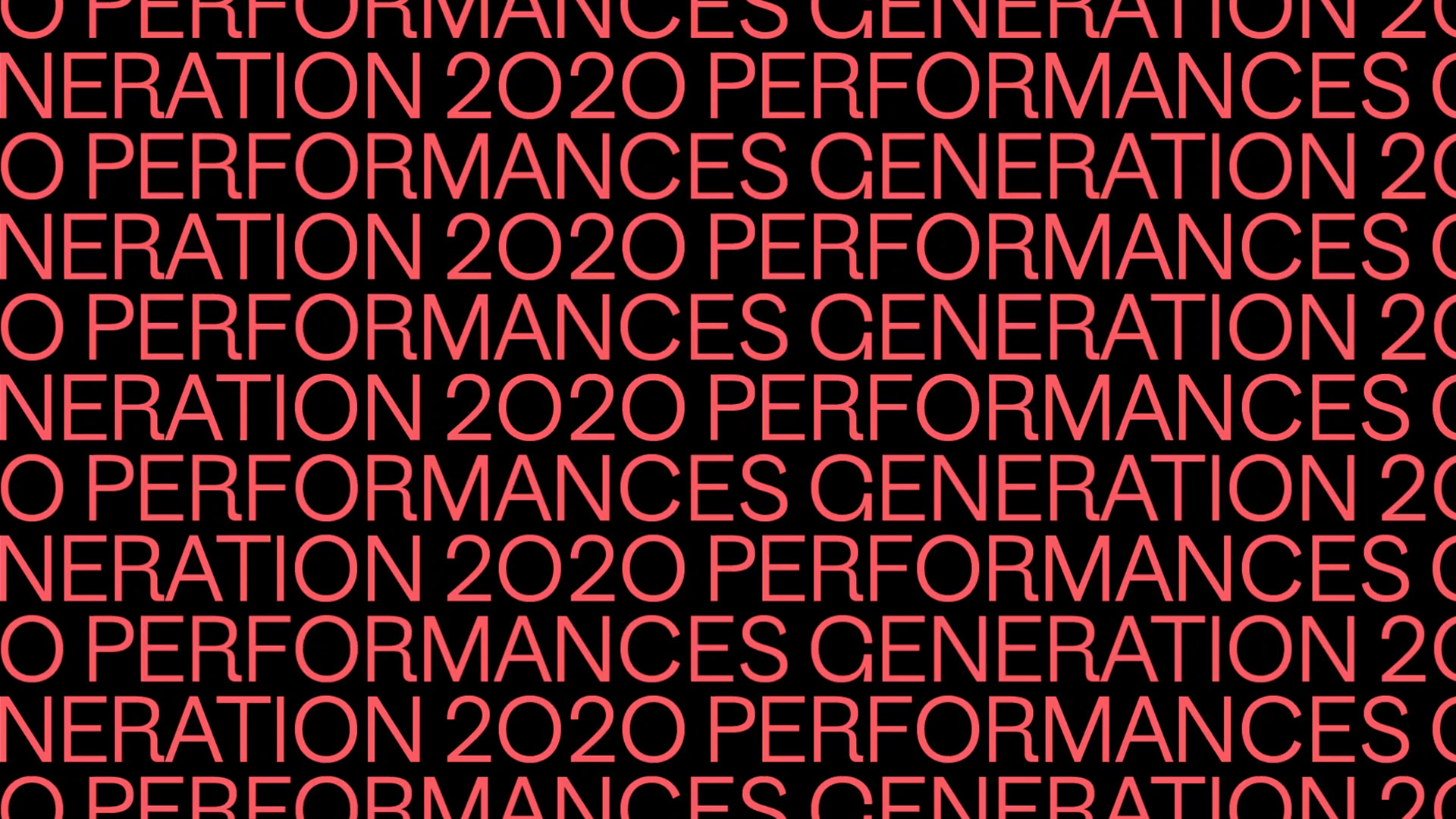 Link to event Generation 2020 Performances