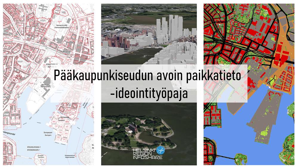 Linkki tapahtumaan HRI Loves Developers: Pääkaupunkiseudun avoin paikkatieto -ideointityöpaja