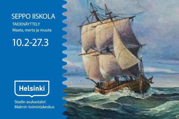 Linkki tapahtumaan Seppo Iiskolan taidenäyttely: Maata, merta ja muuta.