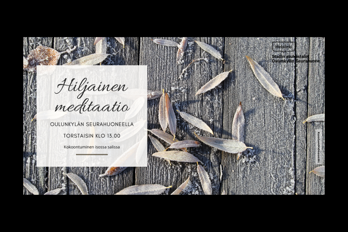 Link to event Hiljainen meditaatio
