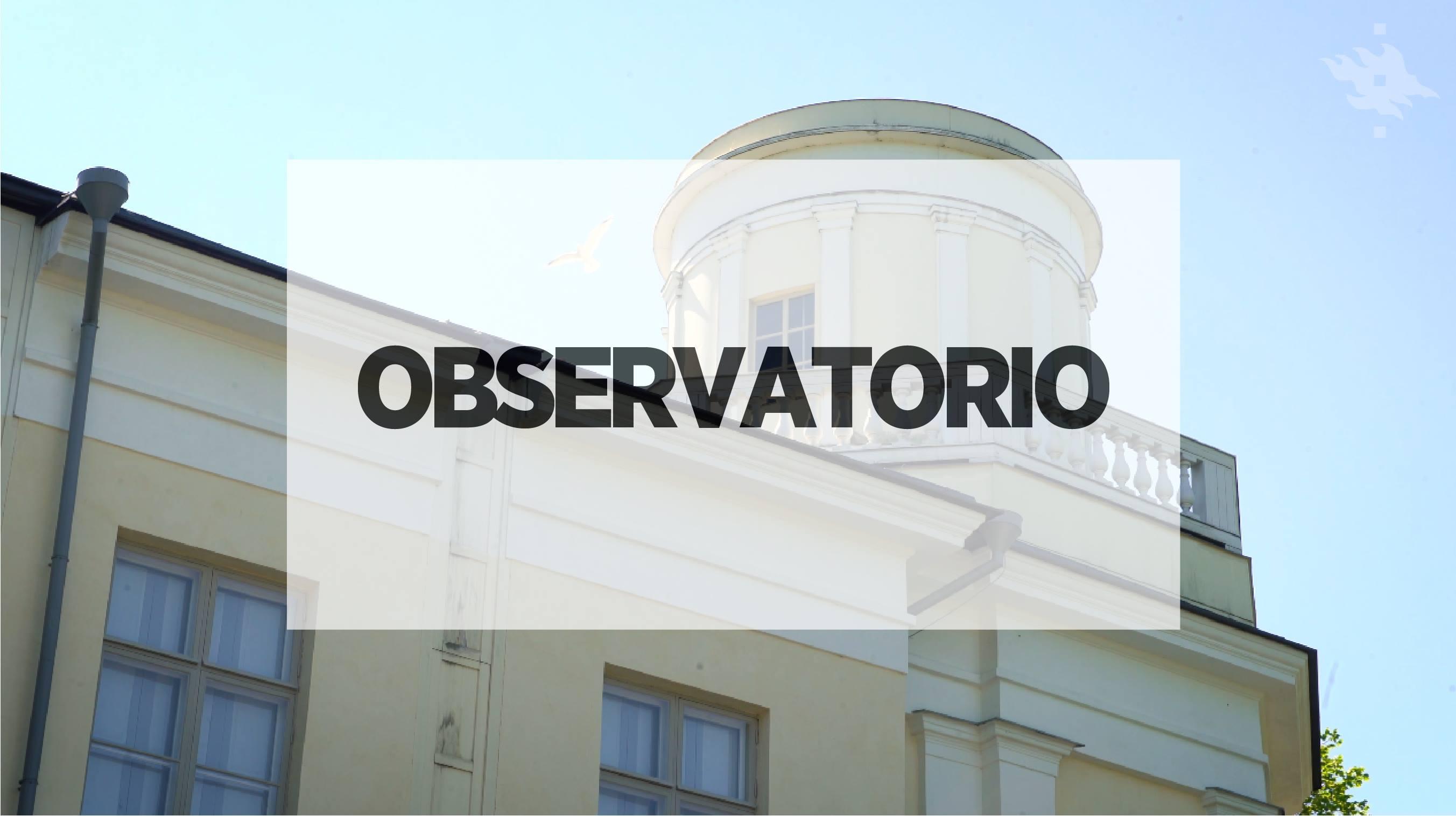 Linkki tapahtumaan Taidehistoriallinen kävelykierros: Observatorio