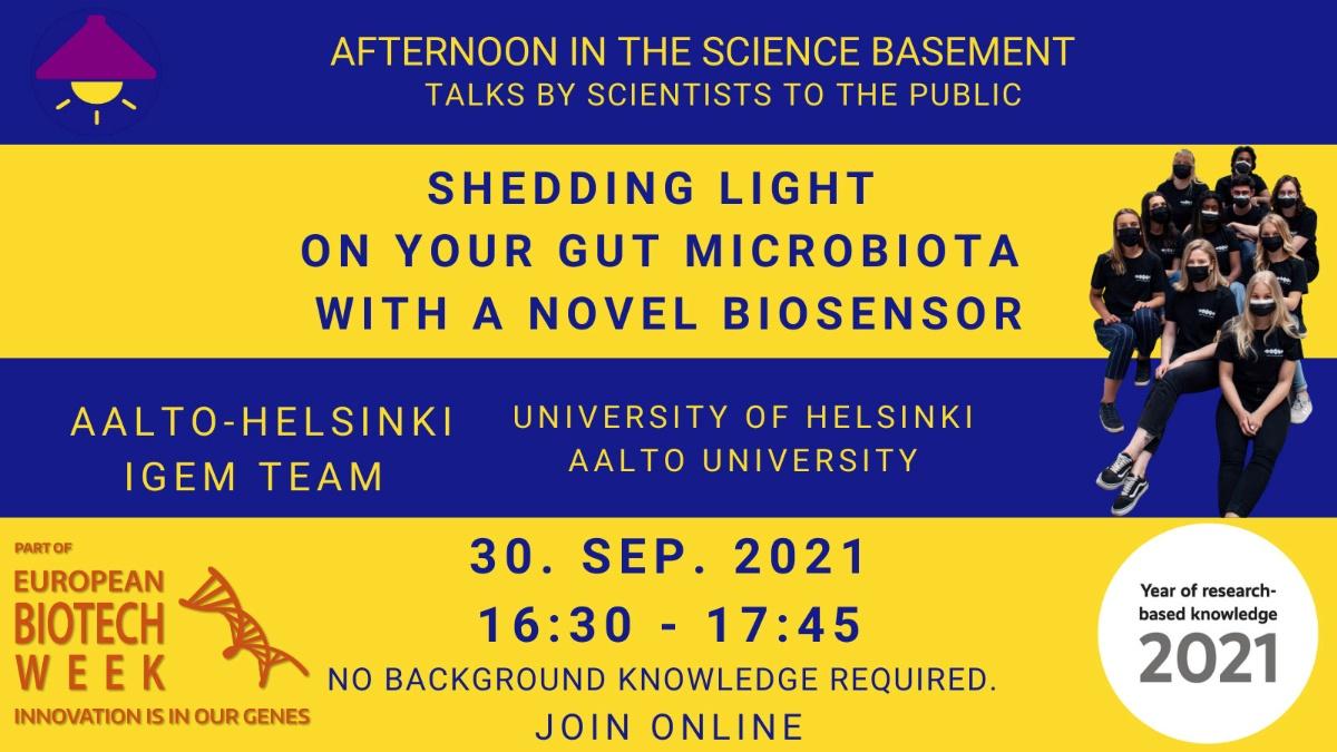 Linkki tapahtumaan Valoa suoliston mikrobiin uudella biosensorilla