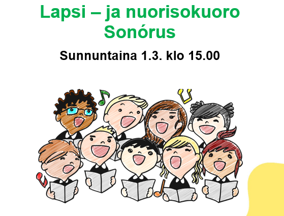 Link to event Lapsi- ja nuorisokuoro Sonórus