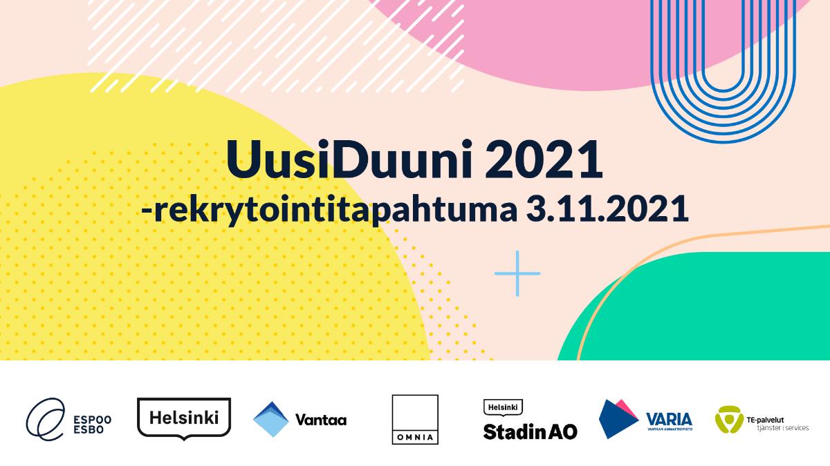 Linkki tapahtumaan  Työnhakija, löydä työpaikkasi UusiDuuni 2021 –rekrytapahtumassa
