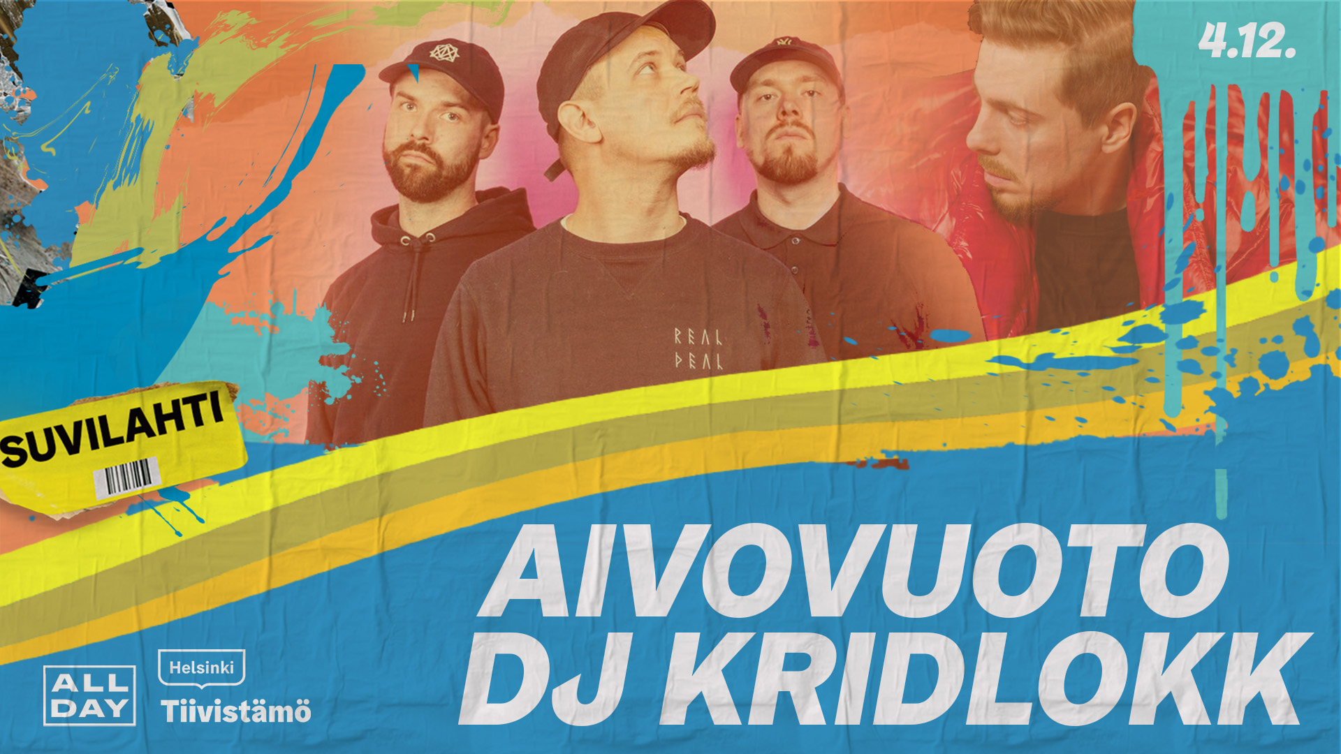 Linkki tapahtumaan Aivovuoto + DJ Kridlokk
