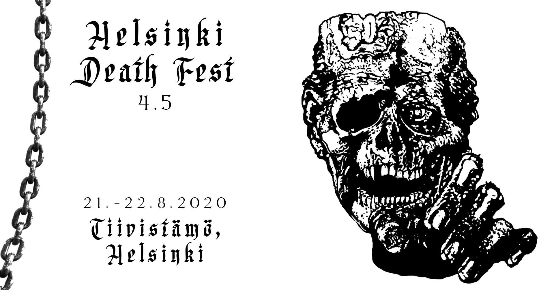 Linkki tapahtumaan Helsinki Death Fest 4.5
