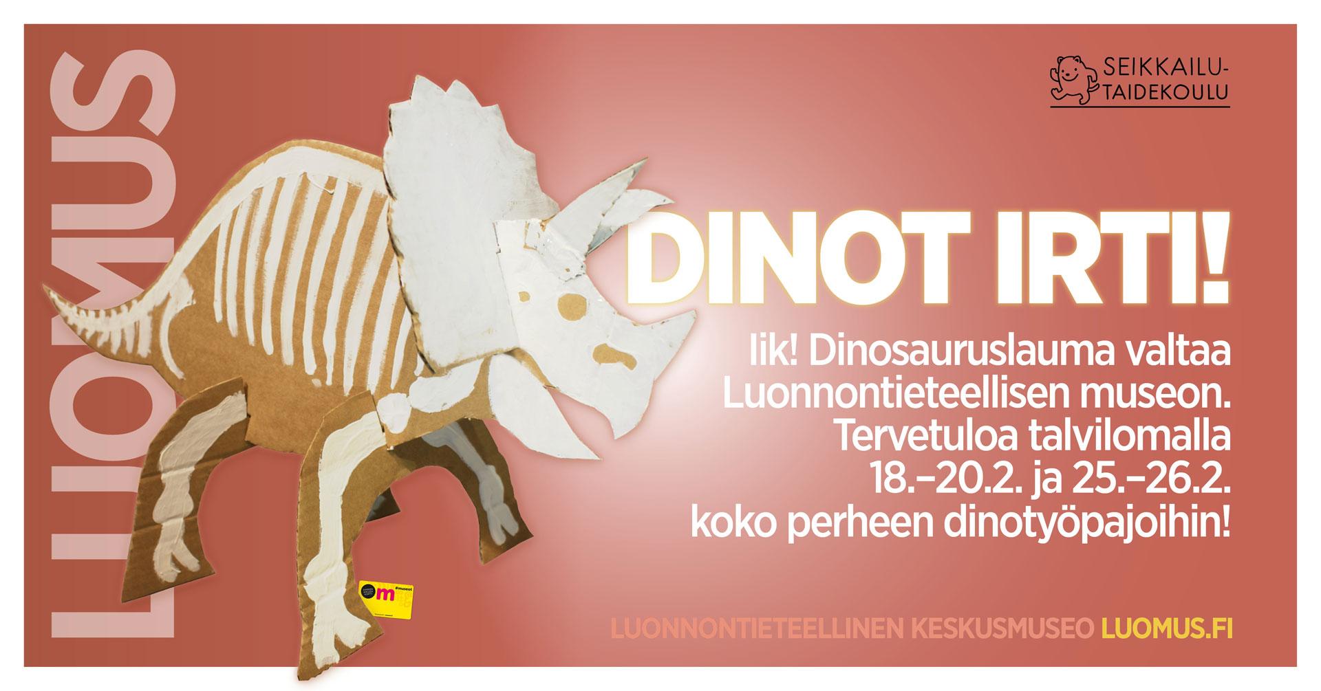 Linkki tapahtumaan Dinot irti! -työpaja