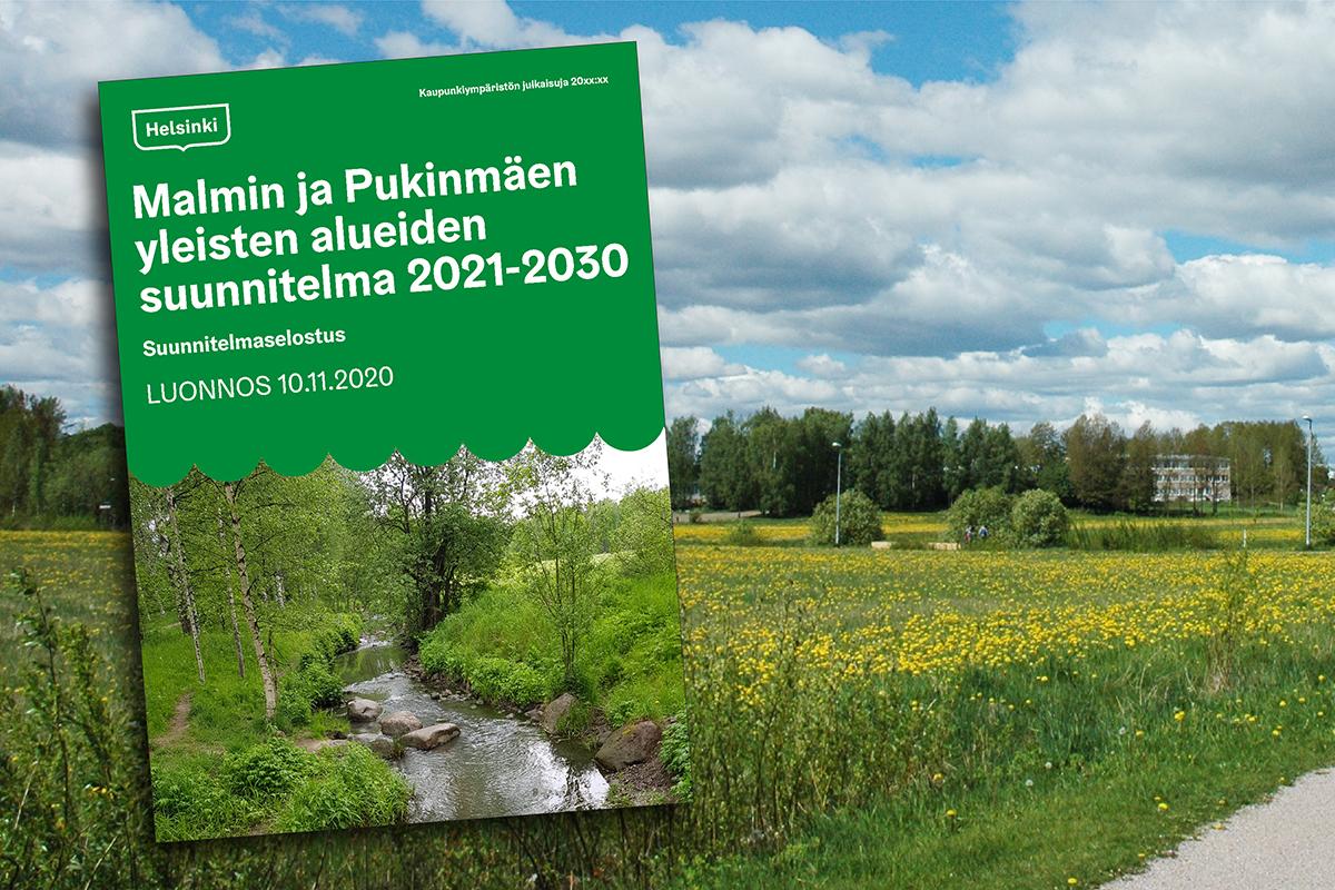 Linkki tapahtumaan Malmin ja Pukinmäen yleisten alueiden suunnitelma –verkkotilaisuus 25.11.2020