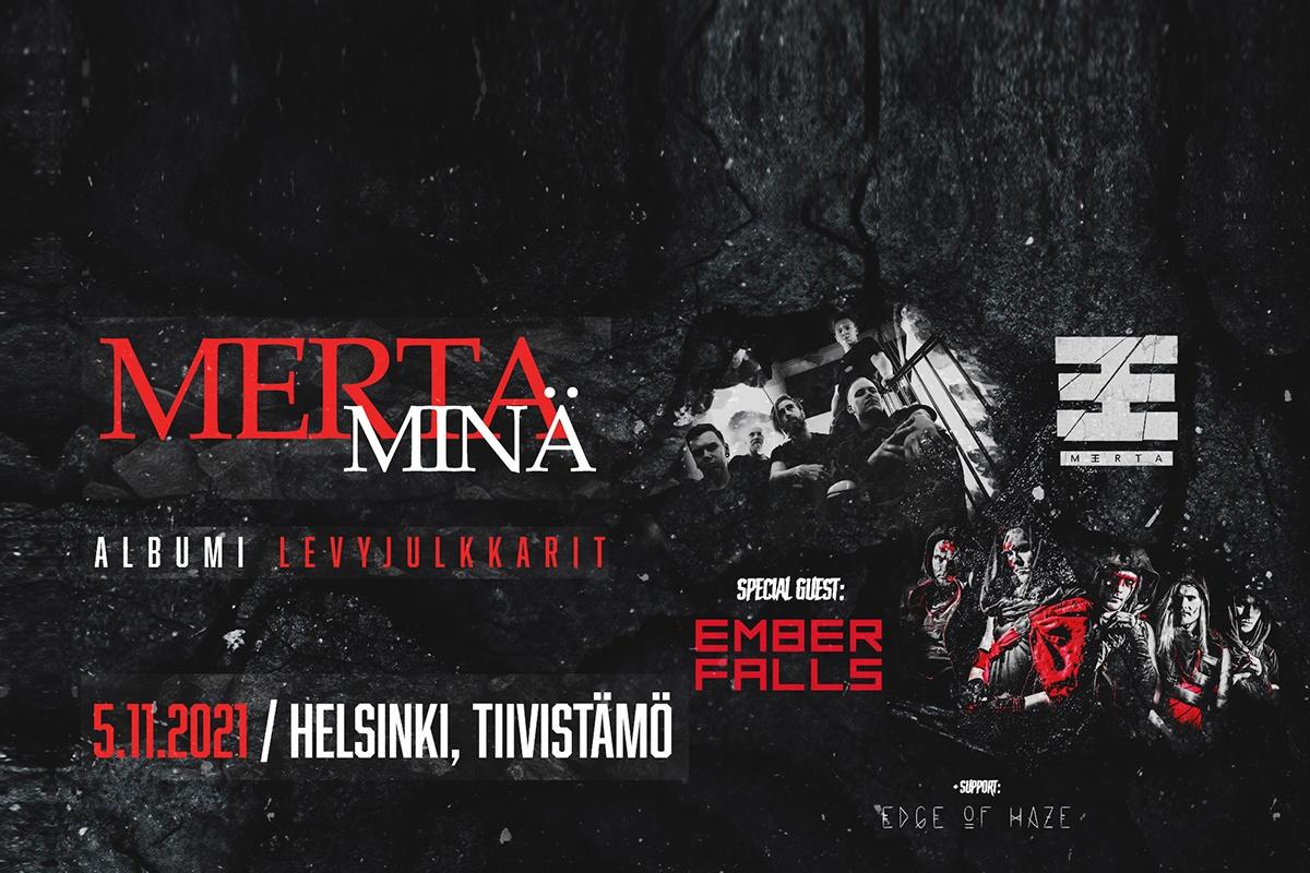 Merta Minä, albumi levyjulkkari. Kuva bändistä.