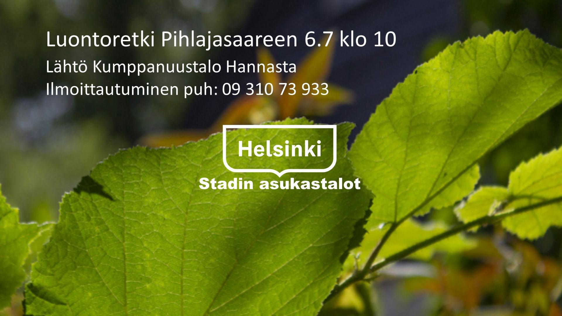 Linkki tapahtumaan Luontoretki Pihlajasaareen 6.7 klo 10