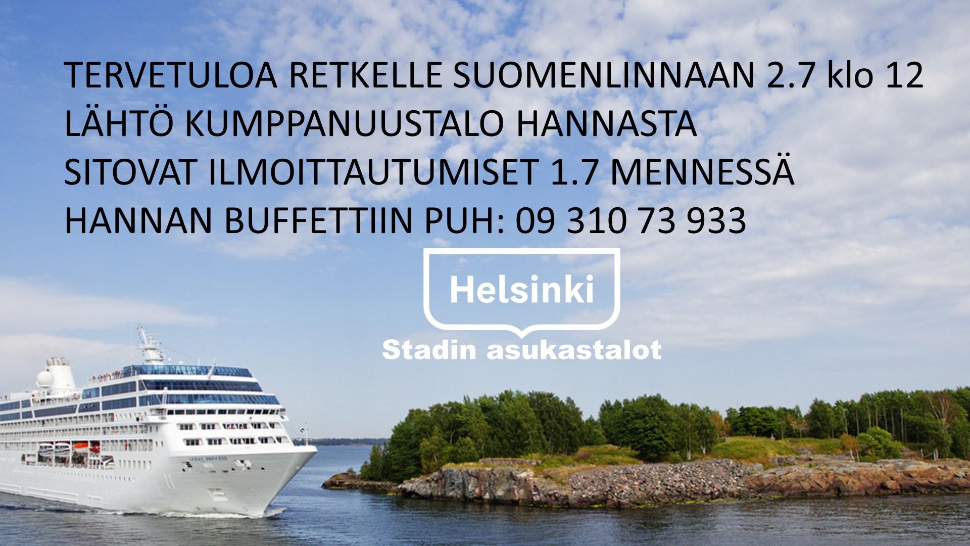 Linkki tapahtumaan Retki Suomenlinnaan 2.7 klo 12.