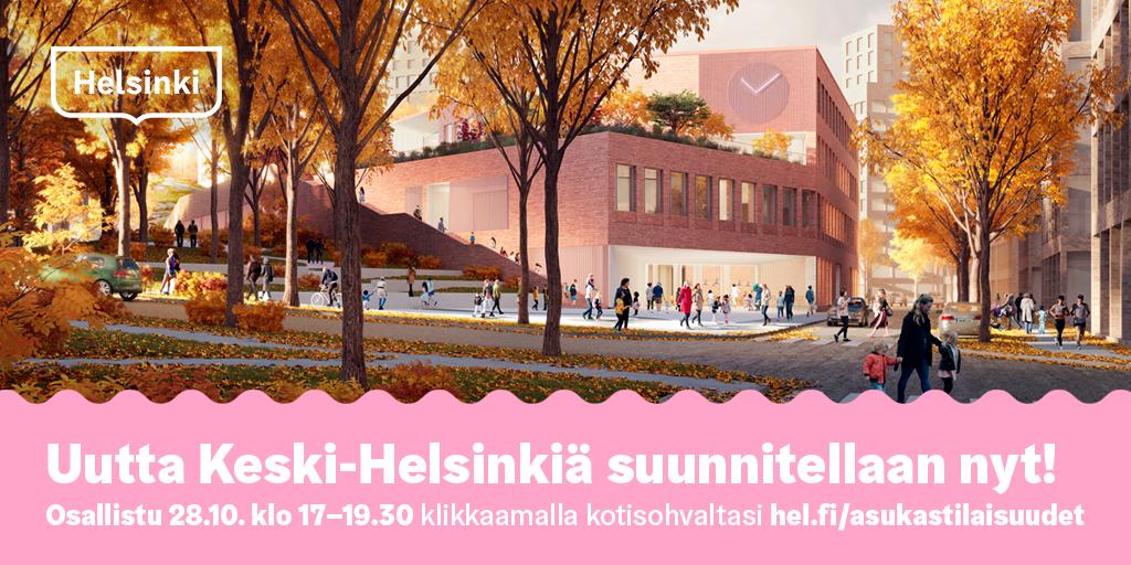 Linkki tapahtumaan Uutta Keski-Helsinkiä 28.10.2020 kello 17-19.30
