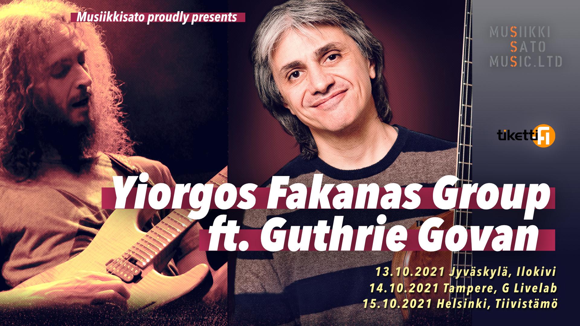 Kuvassa Yiorgos Fakanas ja Guthrie Govan poseeraavat
